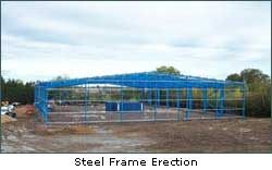 Steel Frame Erection